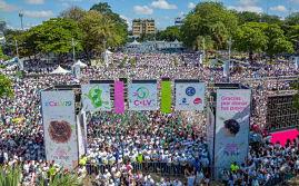 """Más de 20 mil personas se dan cita a """" Caminante por la Vida"""" en la Fortaleza Ozama"""