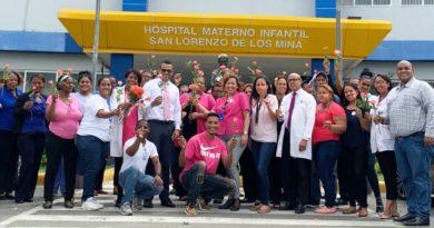 Maternidad de Los Mina está de rosa contra el el cáncer de mama