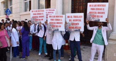 CMD protesta por terminación del Hospital Padre Billini