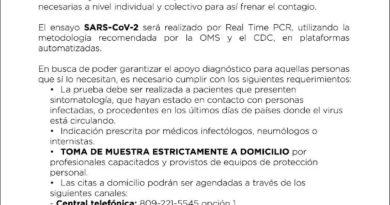 Referencia informa SP le autoriza procesar prueba Covid-19