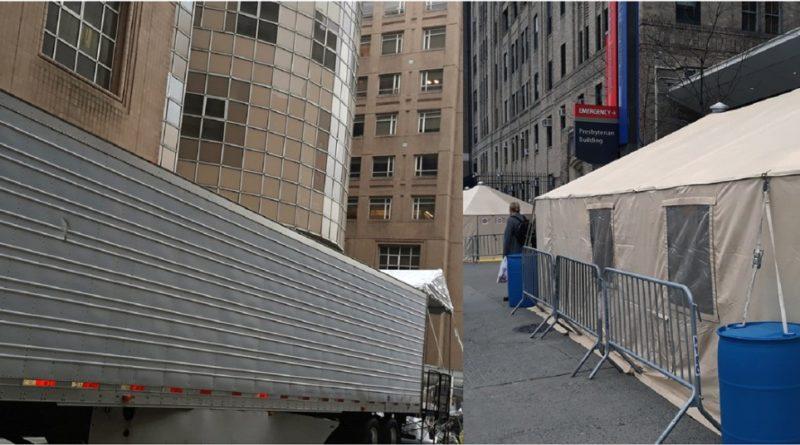 VIDEO: Morgues móviles y carpas para más de 3.000 cadáveres, un panorama sobrecogedor en hospitales del Alto Manhattan