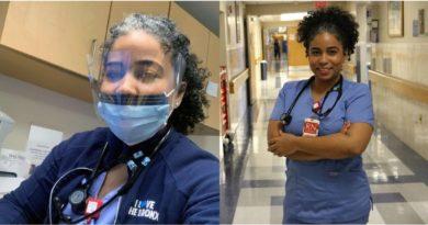 Asambleísta dominicana pausa representación toma uniforme de enfermera y regresa a hospital para ayudar pacientes de COVID - 19