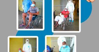 Dan de alta a 14 Pacientes recuperados de COVID-19 en hospital Marcelino Vélez