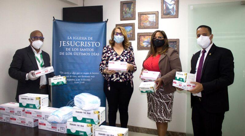 Iglesia de Jesucristo dona kits contra el COVID-19 a Alcaldía de Santo Domingo Norte