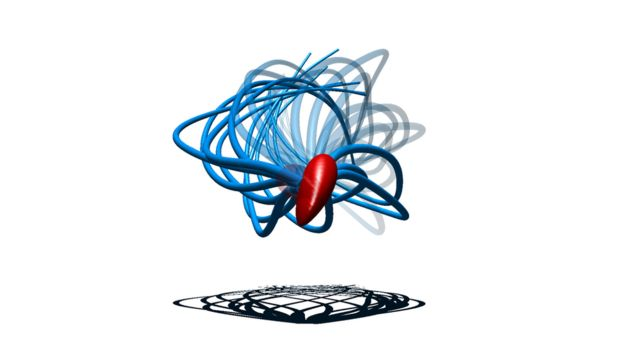 Ilustración del movimiento del esperma en 3D