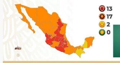 Semáforo COVID-19 en México: 13 estados estarán en rojo y ninguno en verde