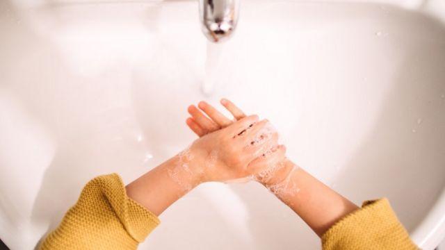 Lavado de manos.