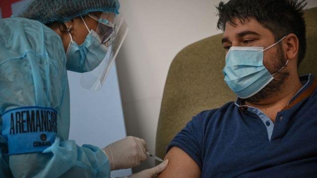 Vacunación en Uruguay.