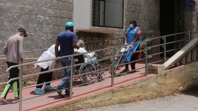 Un paciente de covid en India