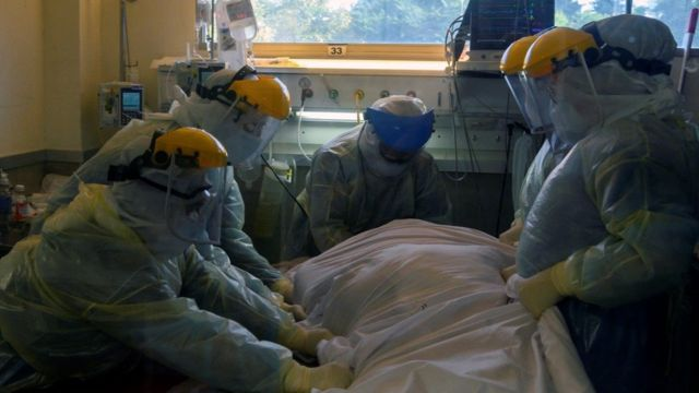 Centro de cuidados intensivos en Uruguay.