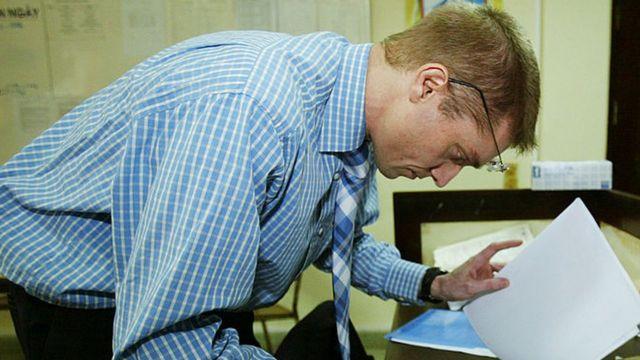 Peter Horby, epidemiólogo. Foto tomada en enero de 2004